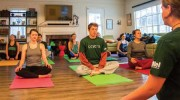 Hillel Yoga class / Courtesy, provided by Jamie Goldberg