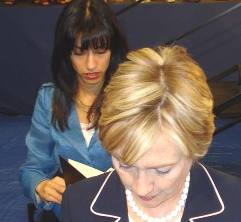 Huma Abedin and Hillary Clinton / Wikipedia commons
