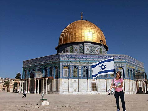 Israeli flag (Lizi Hameiri) on Temple Mount