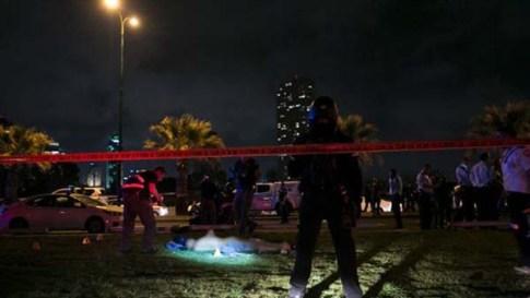 Jaffa terrorist on the ground