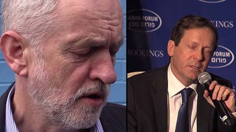 Jeremy Corvbyn and Isaac Herzog / Combined screenshots