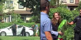 Jewish Woman Gets Pulled Over by NYPD in Surprise Proposal