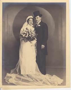 Hilda and Albert at their wedding
