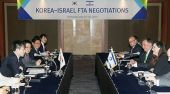 An Israeli delegation meets with South Korean negotiators to discuss a free trade agreement in Seoul.