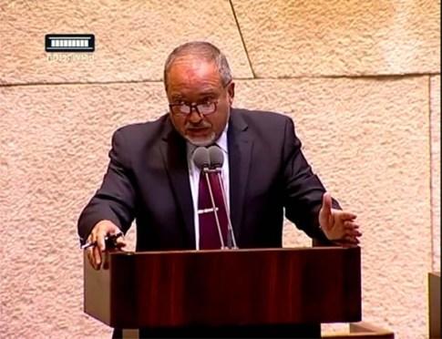 Minister Avigdor Liberman / Screenshot