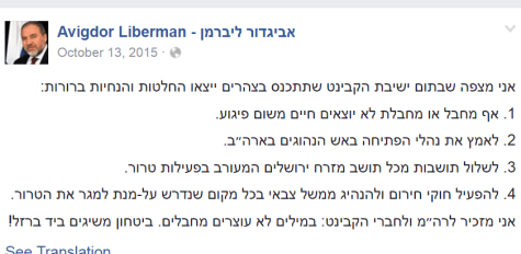 Avigdor Liberman's recommendations on dealing with terror - before he became Defense Minister
