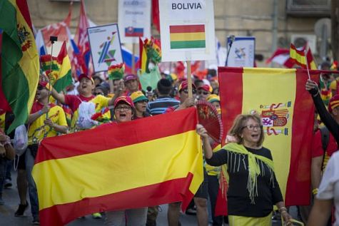 Christians from Bolivia participated in the 2016 Jerusalem March.