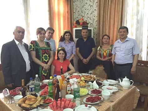 MKs Haskel and Yona (center) in Tajikistan / Courtesy
