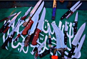 Weapons removed from the Mavi Marmara. May 31, 2010.