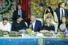 Prime Minister Benjamin Netanyahu and his wife Sara attend the Jewish Moroccan celebration of Mimouna in Yavne on April 30, 2016