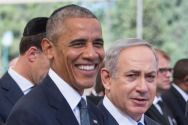 President Obama and Prime Minister Netanyahu at Shimon Peres' funeral