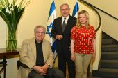 International Israeli violin virtuoso Itzhak Perlman, Prime Minister Benjamin Netanyahu and his wife Sarah.