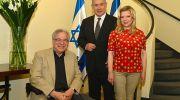International Israeli violin virtuoso Itzhak Perlman, Prime Minister Benjamin Netanyahu and his wife Sarah.