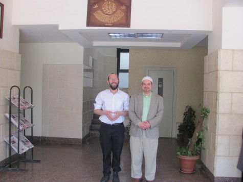 (Left) Rabbi Yaakov Nagen with Dr Joseph Ringel,