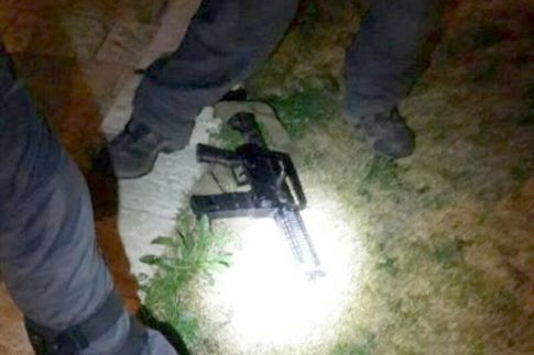 One of the rifles used in the Damascus Gate Attack - Feb. 14, 2016