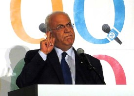 Saeb Erekat / Photo credit: Alan Kotok