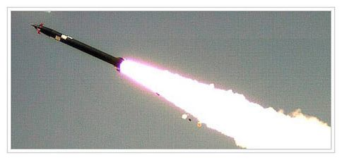 Israel Military Industries' Taas EXTRA long-range rocket.