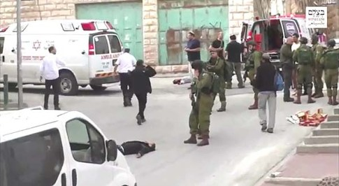 The Shooting scene in Hebron / B'Tselem video screenshot