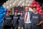 Marc Zell (second from right), head of the Israeli branch of Republicans Overseas, at the opening of Trump's outreach campaign to American voters in Israel.