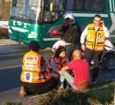 United Hatzalah's psycho-trauma unit in action during April's bus bombing on Moshe Bara'am street.
