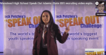 Leanne Mohamad delivering a blood libel speech at Wanstead High School in the UK