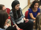 WSSW students in breakout sessions at joint program on trauma, resilience with Tel Hai College in Israel.