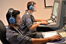 Air Force officers in NATO computer course.