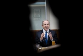 Israeli Prime minister Benjamin Netanyahu leads the weekly cabinet meeting at the Prime Minister's office in Jerusalem, December 2016