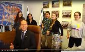 The 'Happy in Jerusalem' music video features Jerusalem Mayor Nir Barkat, among other people. There are other 'Happy' videos made in Israel also, including one in Tel Aviv.