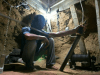 Gaza Arab working in a smuggling tunnel.