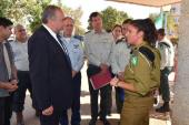 Defense Minister Avigdor Liberman spoke with IDF commanders, instructors and counselors at Michve Alon military base near Tzefat.