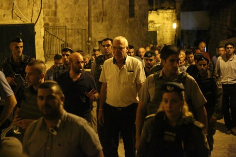 National Union Knesset faction lawmakers were heavily guarded as they toured the Old City of Jerusalem.