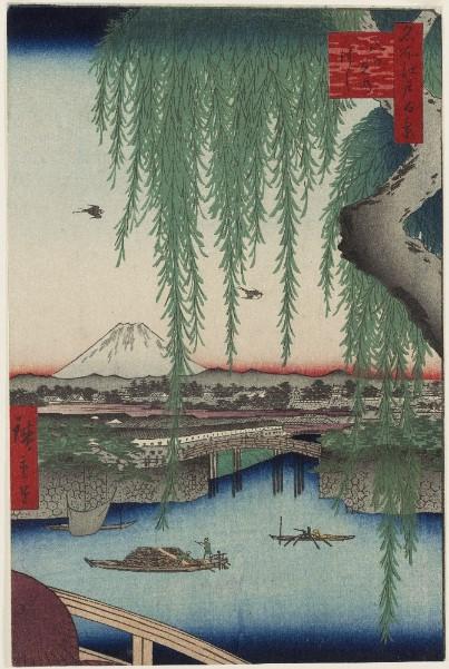 Utagawa Hiroshige Il ponte di Yatsumi Serie: Cento vedute di luoghi celebri di Edo 1856, ottavo mese 332 x 220 mm silografia policroma Museum of Fine Arts, Boston - William Sturgis Bigelow Collection