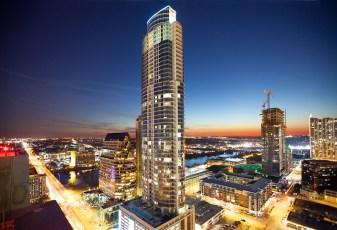 Photo of Austin Skyline taken for The Austonian building