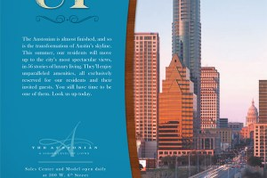 Texas Monthly advertisement for the Austonian building