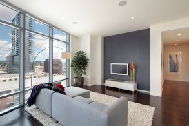 living room in the Austonian building.