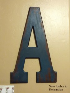 Oversized Letter for Nursery