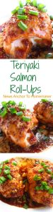 teriyaki salmon roll-ups pinterest
