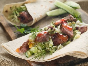 Asian Pork wrap - shutterstock_100786294