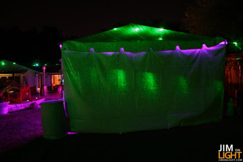 laser light on the tent