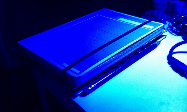 Blue Light Desk