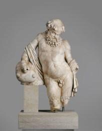Römisch Brunnenfigur eines Silens mit Weinschlauch, um 70- 110 n. Chr. Skulpturensammlung, Staatliche Kunstsammlungen Dresden