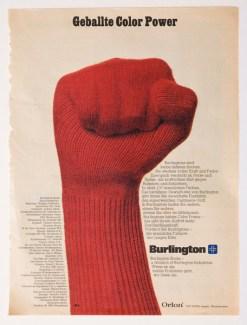 Magazinwerbung für Strümpfe der Firma Burlington, 1970er Jahre Sammlung Werkbundarchiv – Museum der Dinge / Foto: Armin Herrmann