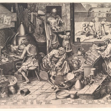 Pieter Bruegel d. Ä., Der Alchimist, 1558
