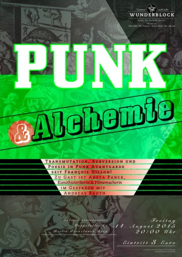 Wunderblock No. 18, Punk & Alchemie, Veranstaltungsplakat