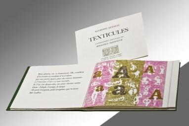 Künstlerbuch von Sébastien Hadengue, Texticules – Raymond Quenau, 1968, mpk, Foto: mpk, © Künstler