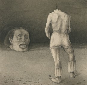 Alfred Kubin, Selbstbetrachtung, um 1901-02. Albertina, Wien © Bildrecht, Wien, 2015