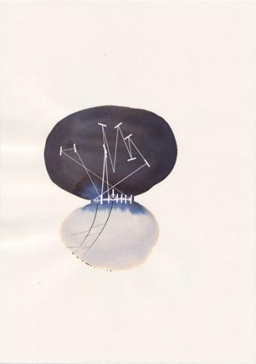 """Carolin Jörg & Michael Fragstein, """"Der zweite Blick"""", 2014/2015, 10 Zeichnungen, Tusche auf Papier / Animation. Abbildung: Büro Achter April, Stuttgart"""