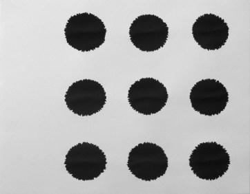 Corinne Laroche, 9 points – 09/08/2012, 2012, Filzstift auf Löschpapier, 50 x 65 cm