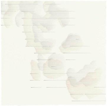 Malte Spohr, Blatt 2 SW III, D 2, 2015, Farbstift und Bleistift auf Bütten, 30 x 30 cm, Courtesy Galerie Werner Klein, Köln